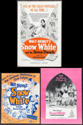 """Movie Posters:Animation, Snow White and the Seven Dwarfs (Buena Vista, R-1952/R-1956/R-1975). Uncut Pressbooks (3) (Multiple Pages, 10"""" x 13.5,"""" 11""""... (Total: 3 Items)"""
