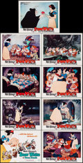 "Movie Posters:Animation, Snow White and the Seven Dwarfs (Buena Vista, R-1967). Lobby Card Set of 9 (11"" X 14""). Animation.. ... (Total: 9 Items)"