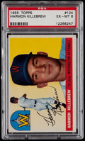 Baseball Cards:Singles (1950-1959), 1955 Topps Harmon Killebrew #124 PSA EX-MT 6....