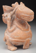 Pre-Columbian:Ceramics, An Unusual Maya (?) Zoomorphic Vessel . ...