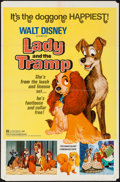 "Movie Posters:Animation, Lady and the Tramp (Buena Vista, R-1972). One Sheet (27"" X 41"") & Australian Daybill (13.25"" X 26.75""). Animation.. ... (Total: 2 Items)"