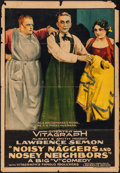 """Movie Posters:Comedy, Noisy Naggers and Nosey Neighbors (Vitagraph, 1917). One Sheet (27"""" X 41""""). Comedy.. ..."""