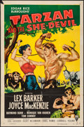 "Movie Posters:Adventure, Tarzan and the She-Devil (RKO, 1953). One Sheet (27"" X 41"").Adventure.. ..."