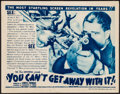 "Movie Posters:Crime, You Can't Get Away with It! (Universal, 1936). Title Lobby Card(11"" X 14""). Crime.. ..."