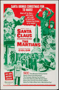 "Movie Posters:Fantasy, Santa Claus Conquers the Martians (Embassy, 1964). One Sheet (27"" X 41""). Fantasy.. ..."