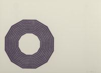 Frank Stella (b. 1936) Kay Bearman, from Purple Series, 1972 Lithograph in colors 16 x