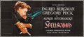 "Movie Posters:Hitchcock, Spellbound (United Artists, 1945). 24 Sheet (104"" X 232"").Hitchcock.. ..."