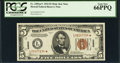 Small Size:World War II Emergency Notes, Fr. 2301* $5 1934 Hawaii Federal Reserve Note. PCGS Gem New 66PPQ.....