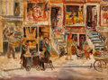 Fine Art - Painting, American, Theresa Bernstein (American, 1890-2002). Saturday Morning, UpperWest Side, 1946. Oil on canvasboard. 18 x 23-3/4 inches...