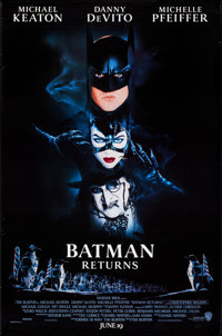 """Batman Returns (Warner Brothers, 1992). One Sheets (3) (27"""" X 40"""") 3 Advance Styles. Action. ... (Total: 3 Ite..."""
