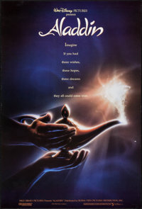 "Aladdin (Buena Vista, 1992). One Sheet (27"" X 41"") DS Advance. Animation"