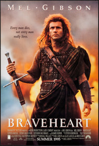 "Braveheart (Paramount, 1995). One Sheet (27"" X 40""). DS Teaser. Action"