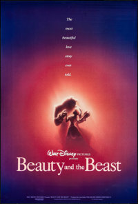 "Beauty and the Beast (Buena Vista, 1991). One Sheet (27"" X 40""). DS Advance. Animation"