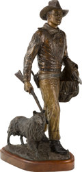 Fine Art - Sculpture, American:Contemporary (1950 to present), David Manuel (American, b. 1940). John Wayne, Hondo Lane &Sam, 1986. Bronze with brown patina. 28 inches (71.1 cm)high...