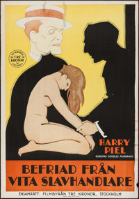 "Freed from White Slavers (Filmbyran Tre Kronor, 1929). Swedish One Sheet (27.5"" X 39.5""). Foreign"