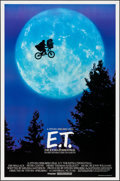 "Movie Posters:Science Fiction, E.T. The Extra-Terrestrial (Universal, 1982). One Sheet (26.75"" X40.5""). Bicycle Style. Science Fiction.. ..."