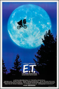 "E.T. The Extra-Terrestrial (Universal, 1982). One Sheet (26.75"" X 40.5""). Bicycle Style. Science Fiction"
