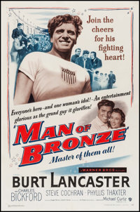 "Jim Thorpe - All American (Warner Brothers, 1951). One Sheet (27"" X 41""). Sports. AKA: Man of Bronze"