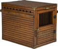 Decorative Arts, Continental:Other , Two Edwardian Wooden Dog Kennels, early 20th century. 28-1/8 h x32-1/4 w x 19 d inches (71.4 x 81.9 x 48.3 cm) (taller). ...(Total: 2 Items)