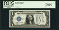 Small Size:Silver Certificates, Fr. 1605 $1 1928E Silver Certificate. PCGS Superb Gem New 67PPQ.. ...
