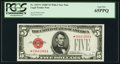 Small Size:Legal Tender Notes, Fr. 1531* $5 1928F Wide I Legal Tender Note. PCGS Gem New 65PPQ.. ...