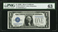 Small Size:Silver Certificates, Fr. 1605 $1 1928E Silver Certificate. PMG Choice Uncirculated 63.. ...