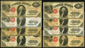 Large Size:Group Lots, A Group of Eight Series 1917 $1 Legal Tender Notes. Good or Better.. ... (Total: 8 notes)