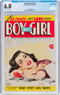 Golden Age (1938-1955):Romance, Boy Meets Girl #4 (Lev Gleason, 1950) CGC FN 6.0 Off-white to white pages....