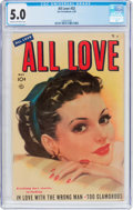Golden Age (1938-1955):Romance, All Love #32 (Ace, 1950) CGC VG/FN 5.0 Cream to off-white pages....