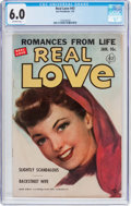 Golden Age (1938-1955):Romance, Real Love #43 (Ace Periodicals, 1952) CGC FN 6.0 Off-whitepages....