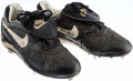 Baseball Collectibles:Others, 1994 Tim Raines Game Worn Baseball Cleats. ...