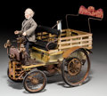 Decorative Arts, French:Other , A French Automobile Wagon Toy. 8 h x 9-1/4 w x 5-7/8 d inches (20.3x 23.5 x 14.9 cm). Property from the Estate of Charles...