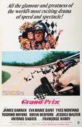 "Decorative Prints, American, ""Grand Prix"" Movie Poster. 40-3/4 x 26-7/8 inches (103.5 x 68.3cm). Property from the Estate of Charles Schalebaum..."
