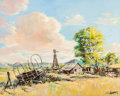 Fine Art - Painting, American, Fred Harman (American, 1902-1982). Deserted. Oil on canvas.30 x 24 inches (76.2 x 61.0 cm). Signed lower right: Fred...