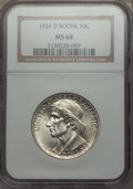 Commemorative Silver, 1935-D 50C Boone MS64 NGC. NGC Census: (268/354). PCGS Population:(443/471). CDN: $135 Whsle. Bid for problem-free NGC/PCG...