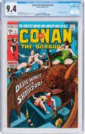 Bronze Age (1970-1979):Adventure, Conan the Barbarian #6 (Marvel, 1971) CGC NM 9.4 White pages....