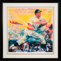 Baseball Collectibles:Others, 1999 Mickey Mantle Signed LeRoy Neiman Serigraph Display. ...