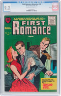 Golden Age (1938-1955):Romance, First Romance Magazine #38 File Copy (Harvey, 1956) CGC NM- 9.2Cream to off-white pages....