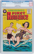 Golden Age (1938-1955):Romance, First Romance Magazine #40 File Copy (Harvey, 1956) CGC VF+ 8.5Light tan to off-white pages....
