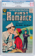 Silver Age (1956-1969):Romance, First Romance Magazine #42 File Copy (Harvey, 1956) CGC VF+ 8.5Light tan to off-white pages....
