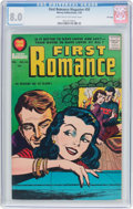 Silver Age (1956-1969):Romance, First Romance Magazine #50 File Copy (Harvey, 1958) CGC VF 8.0Light tan to off-white pages....