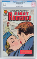 Silver Age (1956-1969):Romance, First Romance Magazine #51 File Copy (Harvey, 1958) CGC VF 8.0Light tan to off-white pages....