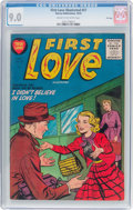 Golden Age (1938-1955):Romance, First Love Illustrated #57 File Copy (Harvey, 1955) CGC VF/NM 9.0Cream to off-white pages....