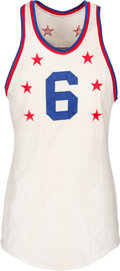 Basketball Collectibles:Uniforms, 1960 Bill Russell NBA All-Star Game Worn Eastern Conference Jersey,MEARS A10....