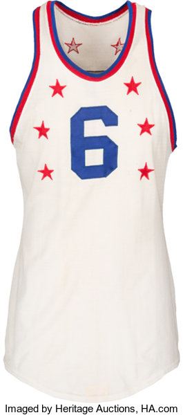 e76bfecec4a ... Basketball Collectibles:Uniforms, 1960 Bill Russell NBA All-Star Game  Worn Eastern Conference ...