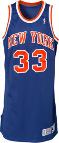 Basketball Collectibles:Uniforms, 1993-94 Patrick Ewing Game Worn New York Knicks Jersey, MEARSA5....