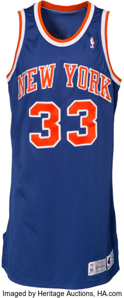 size 40 83c74 43ade 1993-94 Patrick Ewing Game Worn New York Knicks Jersey ...