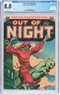 Golden Age (1938-1955):Horror, Out of the Night #5 (ACG, 1952) CGC VF 8.0 White pages....