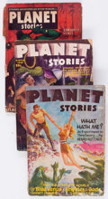 Pulps:Science Fiction, Planet Stories Group of 8 (Fiction House, 1946-54) Condition:Average FR.... (Total: 8 Items)