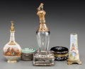 Ceramics & Porcelain, Continental:Other , Six Various Snuff Boxes and Perfume Bottles, 19th century andlater. 5 inches high (12.7 cm) (tallest). ... (Total: 6 Items)